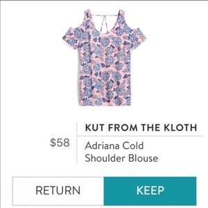 Kut From The Kloth Adriana Cold Shoulder Top